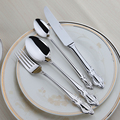 Stainless Steel Cutlery 24Pcs Flatware Set Quality Restaurant Vintage Table Knife Fork Spoon Dining Set Dinner