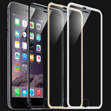 6 6S Tempered glass screen protector For iphone 6 6S Mobile phone Accessories 3D Edge 4.7 inch Full screen coverage