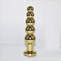 Gold silver anal plug stainless steel butt plug prostate anal toy large anal beads prostate massager