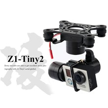 Free shipping Zhiyun Tiny2 aerial gopro bruhsless gimbal 3axis for Hero 3 3+ 4 DJI Phantom 2 F450 F550 X525 drone