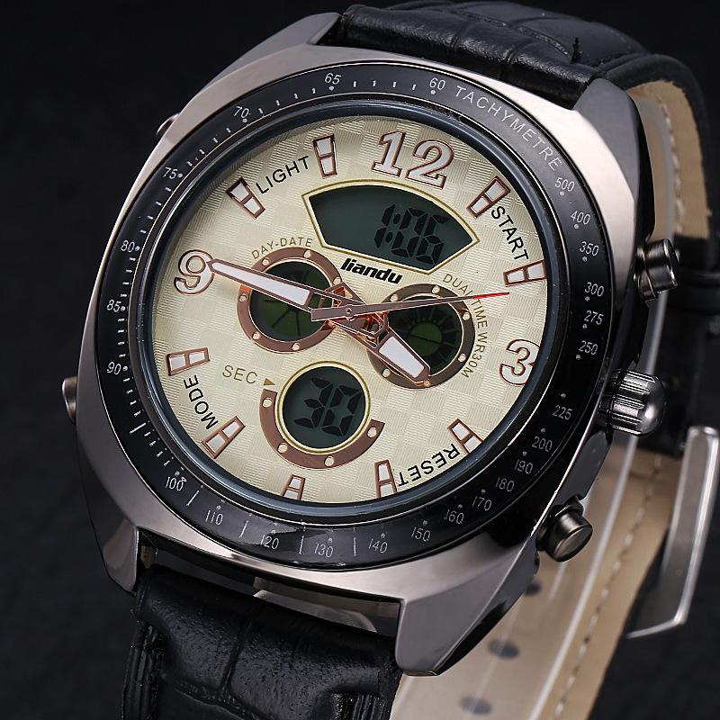 Brand Watches Men Luxury Brand Sports Waterproof Military Chronograph Display Auto Date Relogio Masculino(China (Mainland))