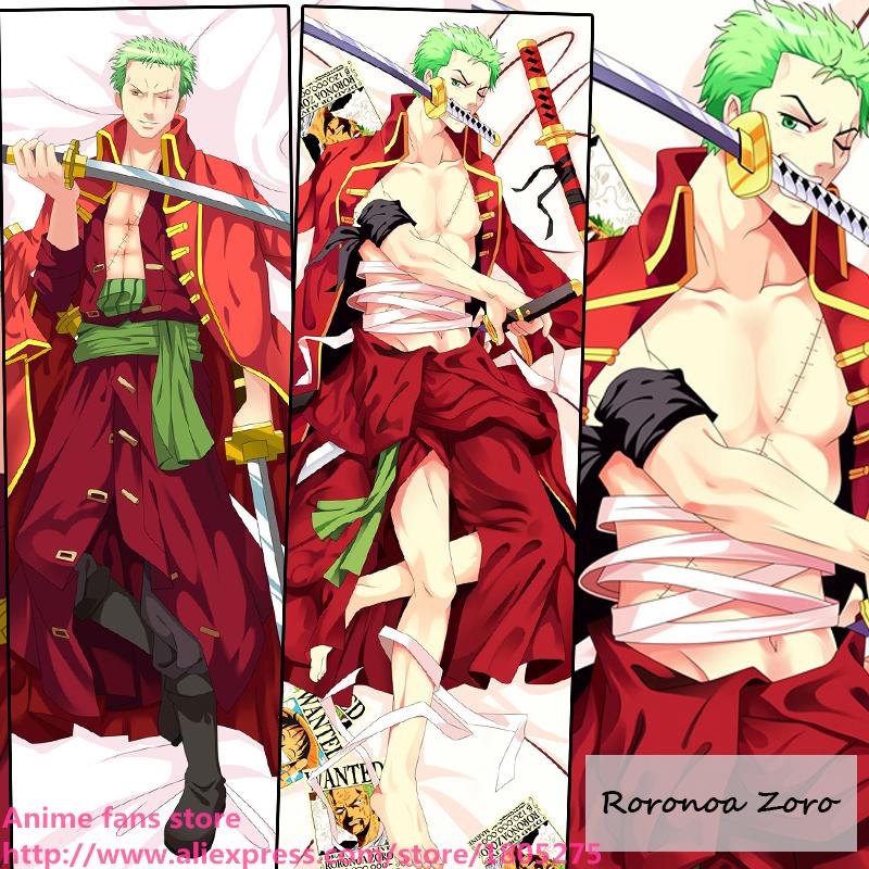 Cool Japanese Anime One Piece Roronoa Zoro Dakimakura Pillow Case decorative Hugging Body Bedding