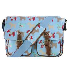 2016 fashion casual totes women shoulder bag colorful messenger bags messenger bags for women dog school bag OILCLOTH material(China (Mainland))