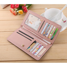 Discount Sweet Umbrella Ladies Wallet Long Purse 12 Cards Holder Protector Wholesale Promotion CLSK