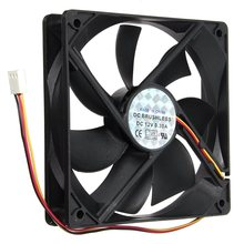 12V 3Pin 120mmx120mmx25mm Silen t Computer CPU Cooler Small Cooling Fan PC Black Heat Sink(China (Mainland))