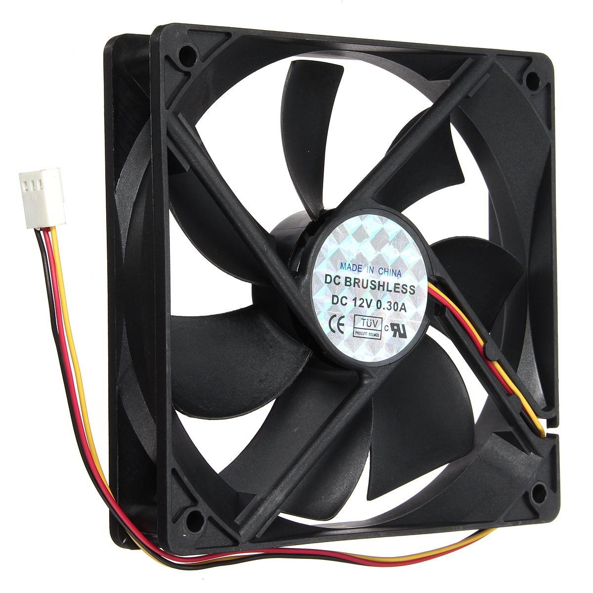 12V 3Pin 120mmx120mmx25mm Silen t Computer CPU Cooler Small Cooling Fan PC Black Heat Sink(China (Mainland))