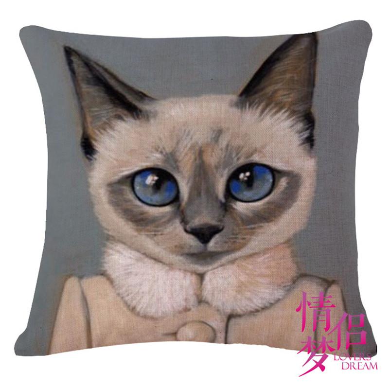 Creative cartoon meow star people cotton pillowcases fashion cats sofa Cushion Cover decorative sofa pillow cover
