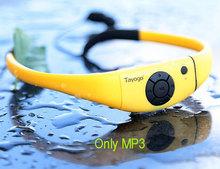 Tayogo Bluetooth IP68 Waterproof 100% music MP3 Player Headphone with FM Pedometer Underwater IPX8 MP3 Player for Swimming Sport(China)
