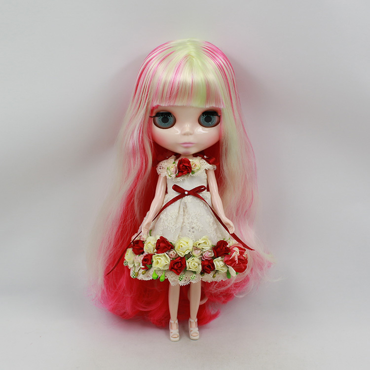 Nude Doll For Series No.280BL1290400 Fortune days body WIth bangs Red mix wihter hair  Suitable For DIY Change BJD Toy For Girls<br><br>Aliexpress