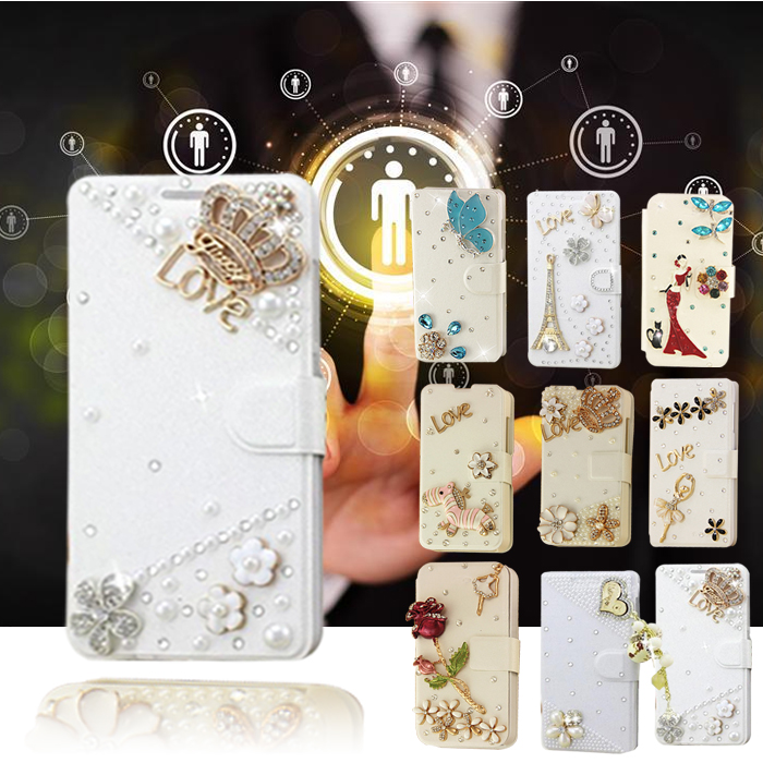 Hot Sale! White color Ultra Thin diamond for blackberry 9700 Flip Leather Case Cover(China (Mainland))