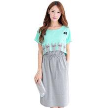 Ropa de maternidad desgaste lactancia maternidad de algodón vestidos ropa para mujeres embarazadas embarazadas moda vestido de verano 2016(China (Mainland))