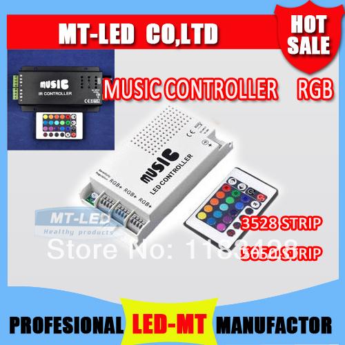 1pcs Infrared LED 24key Music controller 3528 5050 fullcolor Led strip lamp lights RGB module Free Shipping(China (Mainland))