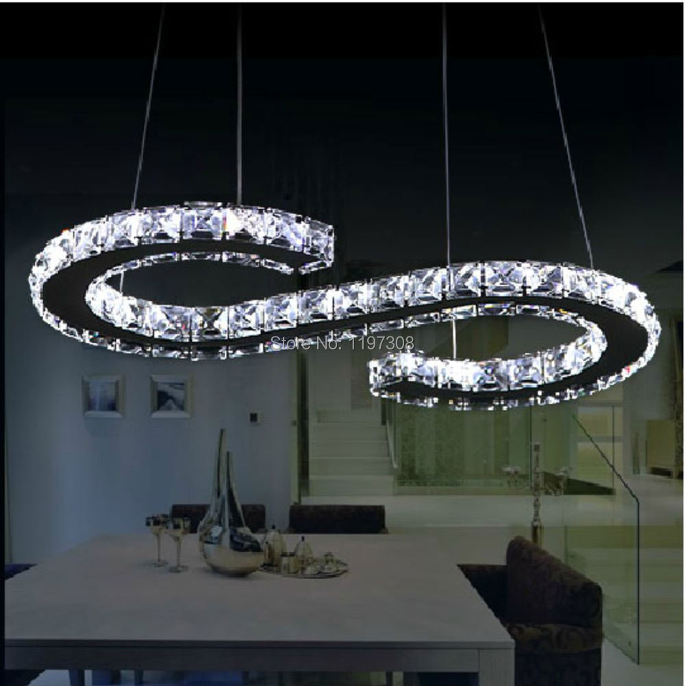 new design rectangle led crystal chandelier lighting large size 60 30cm luxury modern pendant. Black Bedroom Furniture Sets. Home Design Ideas