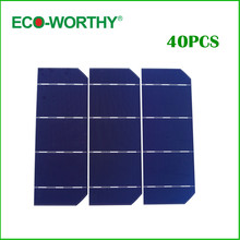 40pcs 6x2 Mono Solar Cell A Grade 156mm Monocrystalline Photovoltaic DIY 12V Solar Panel for Phone Charger Solar Generators(China (Mainland))