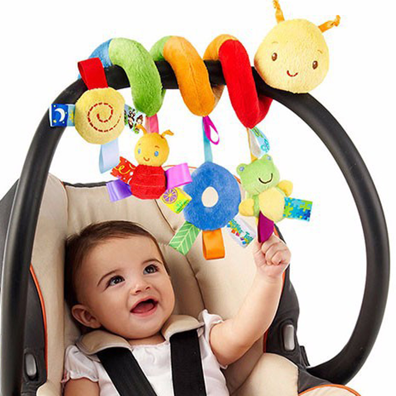 Plush Baby Toy Educational Newborn Mobile Baby Rattles Toys For Kids Colorful Caterpillar Baby Stroller Toys Hanging 2015 New