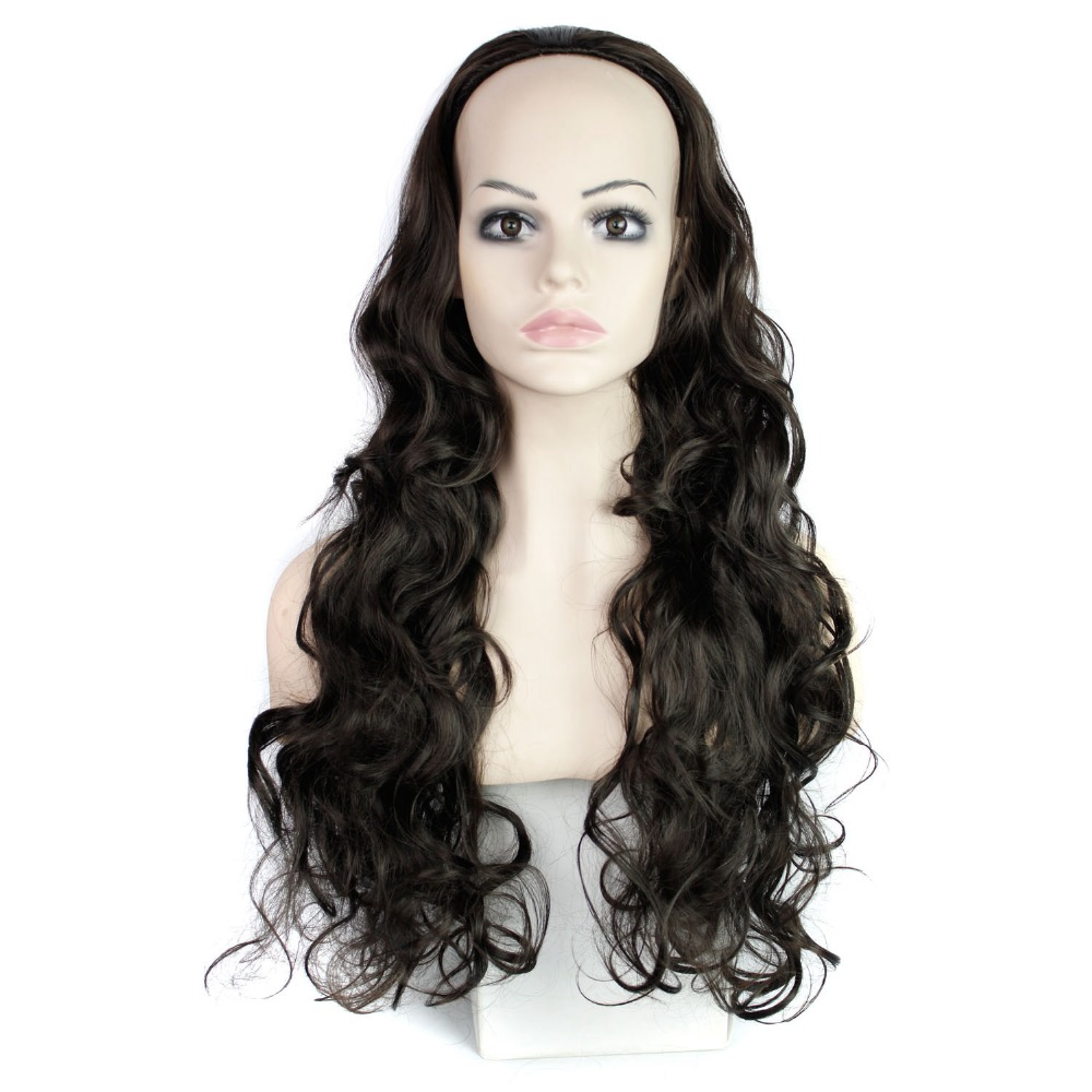 Hot sale available  headband half wig 3/4 wigs for women synthetic hair wigs wavy/curly hair pieces high quality synthetic wigs <br><br>Aliexpress