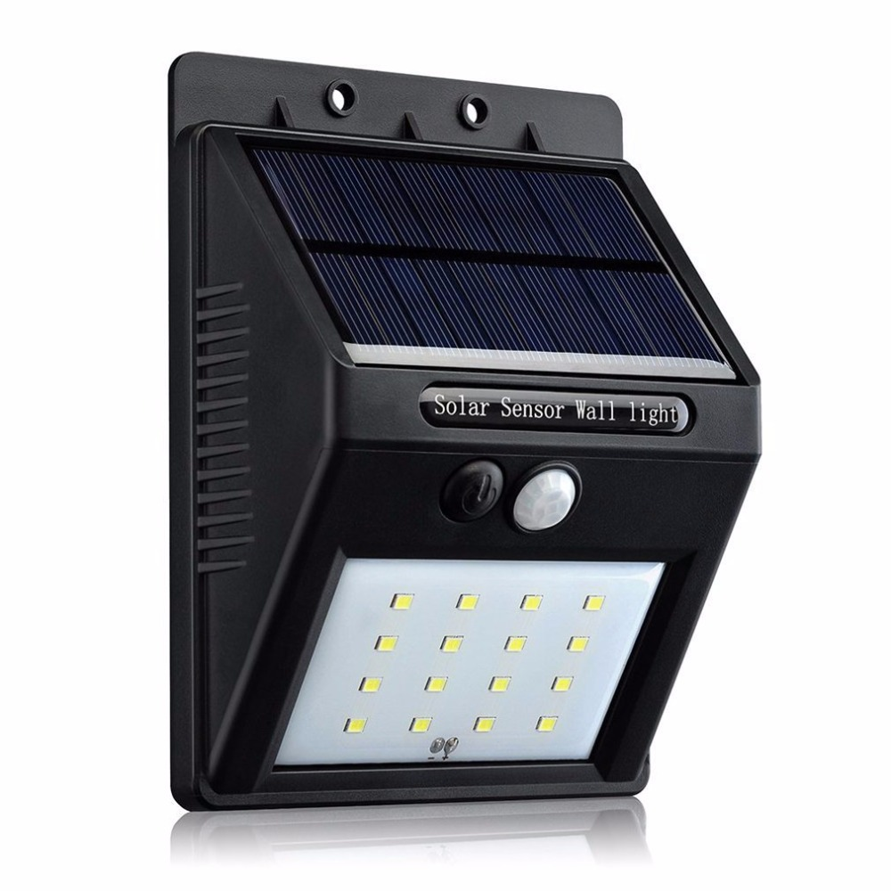 16 led 39 s solar power night light waterproof lamp outdoor. Black Bedroom Furniture Sets. Home Design Ideas