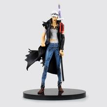 One Piece Anime Action Figures Trafalgar Law Trafalgar D Water Law 19.5cm PVC Kid Toys Brinquedos Juguetes Figure Collection