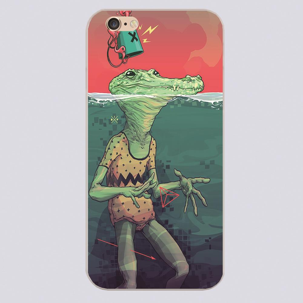 Pool Croc by I . D . V Design case cover cell phone cases for iphone 4 4s 5 5c 5s 6 6s 6plus hard shell(China (Mainland))