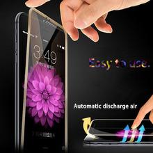 For iPhone 6 6S Full Screen Protector Protective Cover Film Black 0.26mm Premium Tempered Glass pelicula de vidro