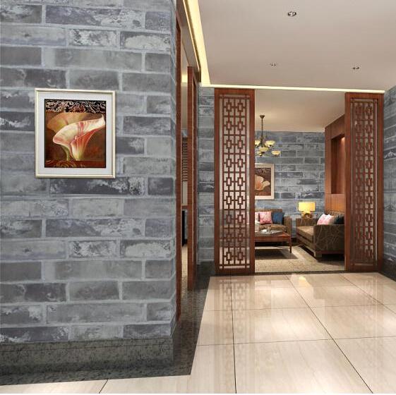 Behang Slaapkamer Steen: S hout beton look. Slaapkamer behang idee ...