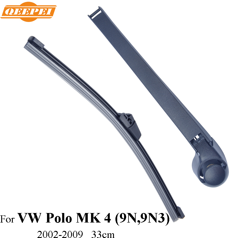 QEEPEI Rear Wiper Blade & Arm For VW Polo MK 4 (9N,9N3),3/5-door Hatchback 33CM Car Accessories For Auto Wipers,RVW27-4A(China (Mainland))