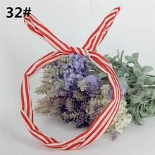 1 шт. милые корейские полосатые кроличьи уши Лента головная повязка металлический шарф-повязка резинки для волос аксессуары головной убор(China)