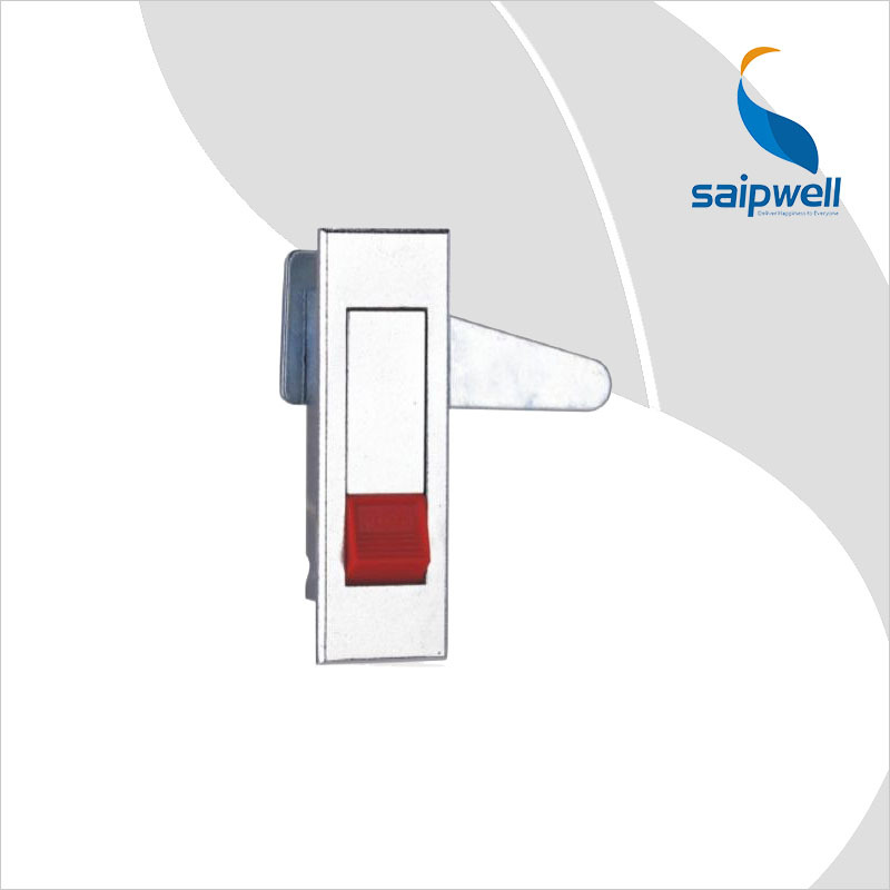 Cabinet Plane Lock / Light Finish Zinc Alloy Cabinet Door Lock For Distribution Box With Push Button (SP-MS603-2-2)(China (Mainland))