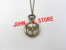 Freeshipping wholesale 20pcs lot pocket watches necklace Dia47mm CAFGL05