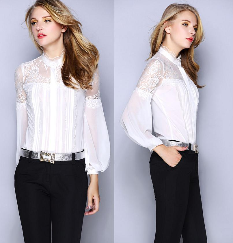 Images of Vintage White Blouse - Reikian