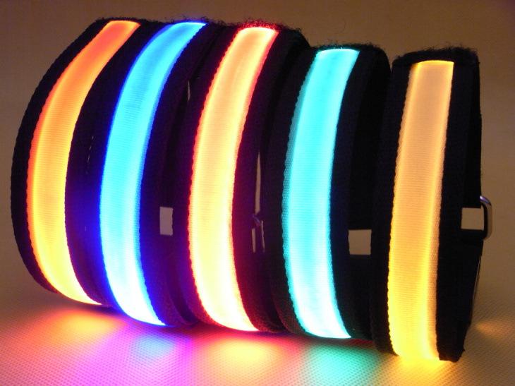 Vogue Colorful Sports Bike LED Armband Belt Strap Safety Reflective LED Arm Band New(China (Mainland))