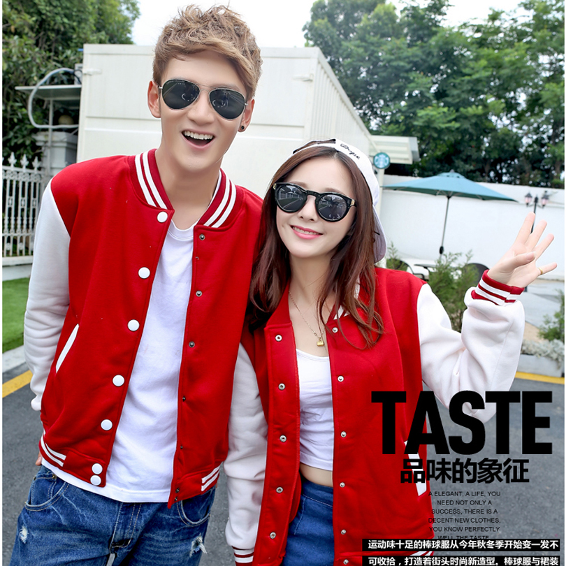 Baseball Jacket Women Men 2016 New Korean Slim Moleton College Baseball Coat Jacket Fashion O-Neck Varsity Jacket for Men(China (Mainland))