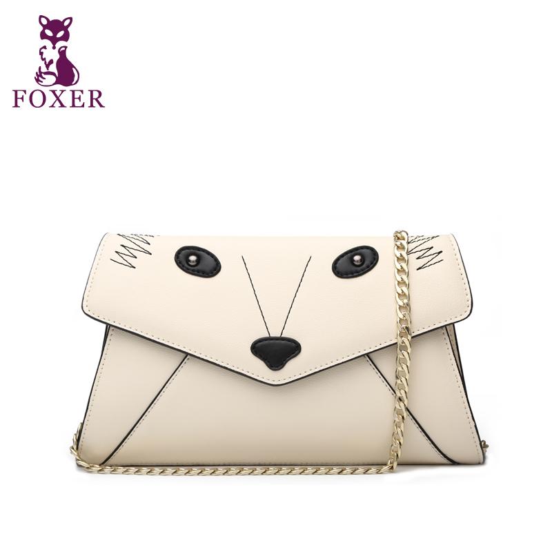 Wolsey chain of packet 2015 women's cowhide handbag messenger bag envelope bag dinner