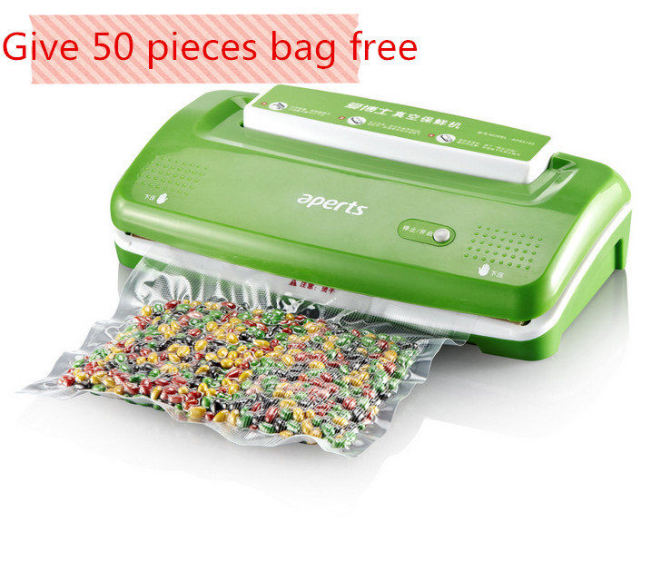 Automatic Electric Food Vacuum Sealer Machine Tools Heat Mini Kitchen Appliances Food Saver Packaging Bags Closer One Touch Easy(China (Mainland))