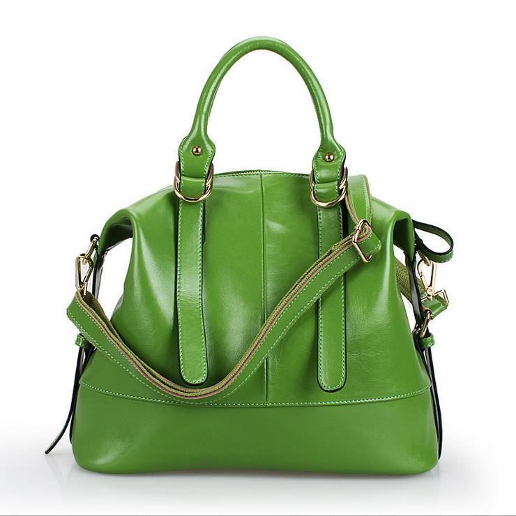 Здесь можно купить  Fashion Oil Wax Leather Women Handbag Hot Shoulder Bags 2014 New Tote Bolsas Trendy Women Messenger Bag Women Leather Handbag  Камера и Сумки