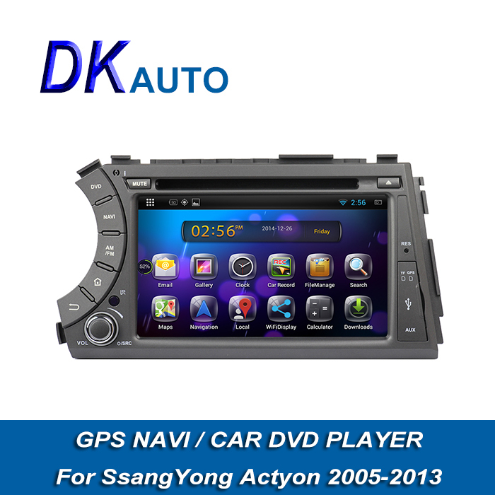 """7"""" 2 Din Android DVD for Ssangyong Actyon Sports 2005-2013 Free Map Amplifier USB GPS DVR 3G DVB-T T2 FM Transmitter Handsfree(China (Mainland))"""
