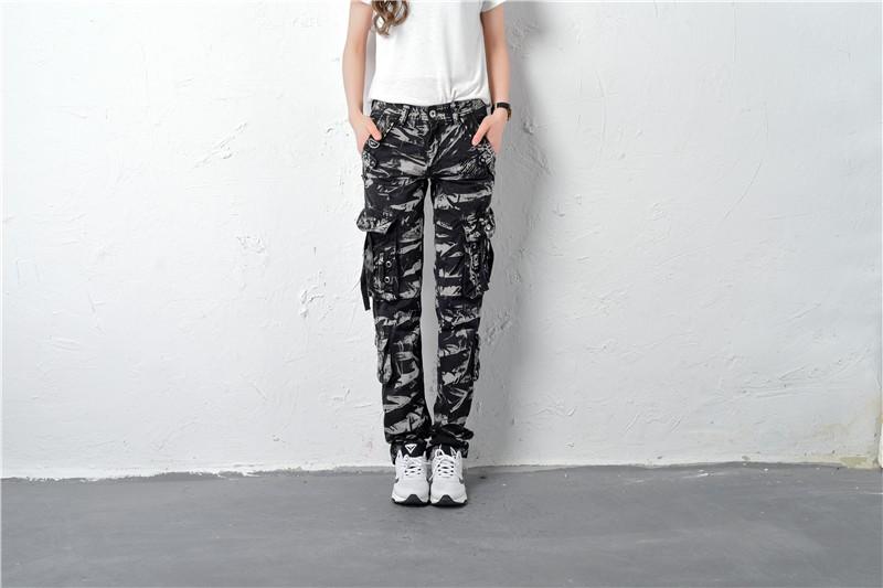 #0920 Plus size Baggy pants Cargo pants women Hip hop Loose Camouflage pants fashion Pantalon mujer Pantalon femme Multi Pocket