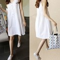 Maternity Clothes Summer Linen Sleeveless Maternity Dress Korean Maternity Clothing Knee Length Dresses For Pregnant Women