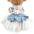 Armi store Fall Off the Knitting Flower Decoration Dog Dresses Pet Princess Dress For Dogs Skirt