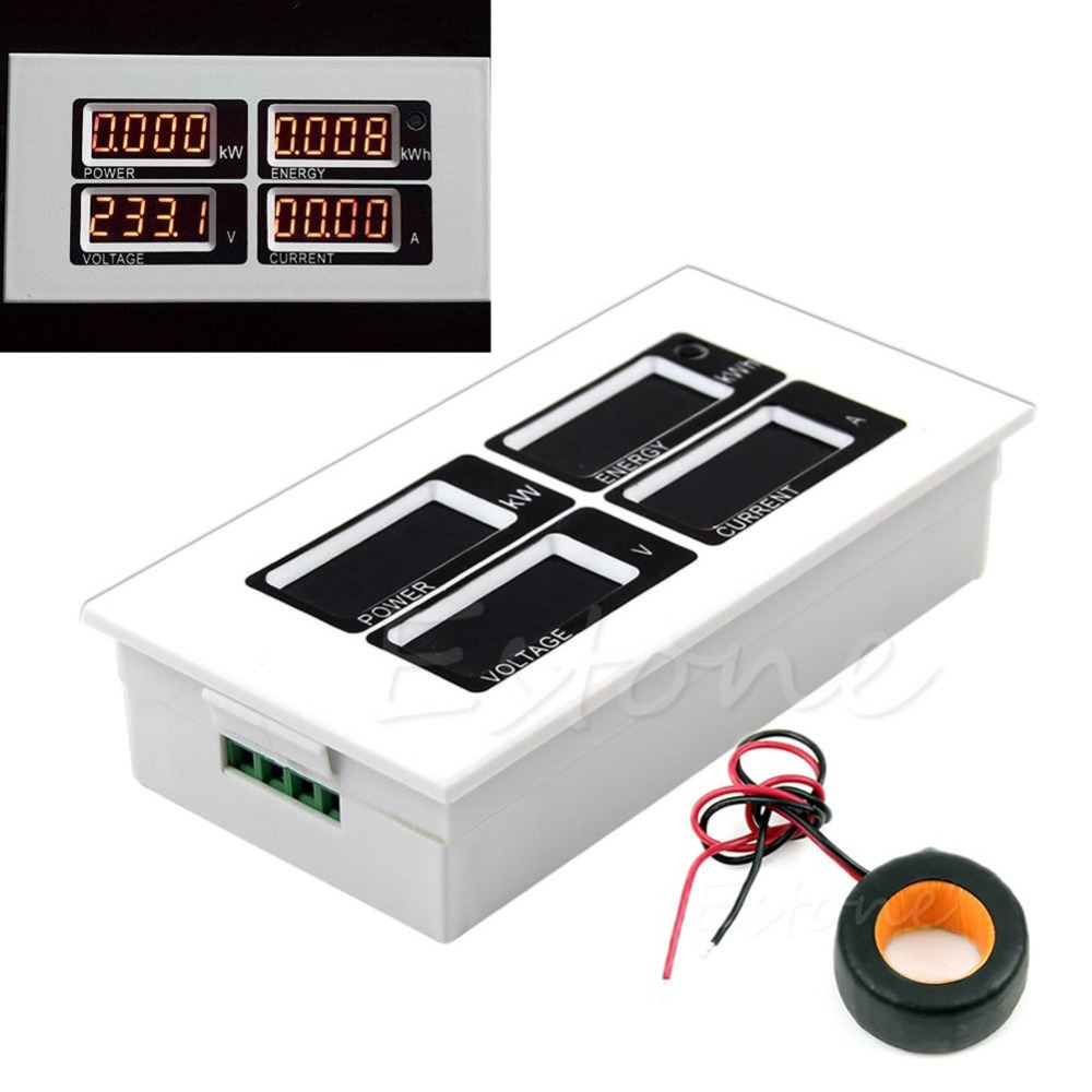 Гаджет  Free Shipping AC 110V 220V Digital 100A watt power meter volt amp Ammeter Voltmeter 80-260V None Инструменты