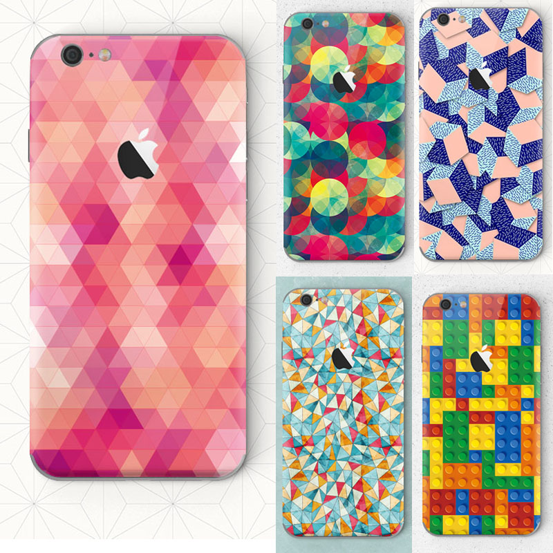 Triangle circular shell color combination Phone cover for apple iphone 6 6s Case Soft Silicon coque(China (Mainland))