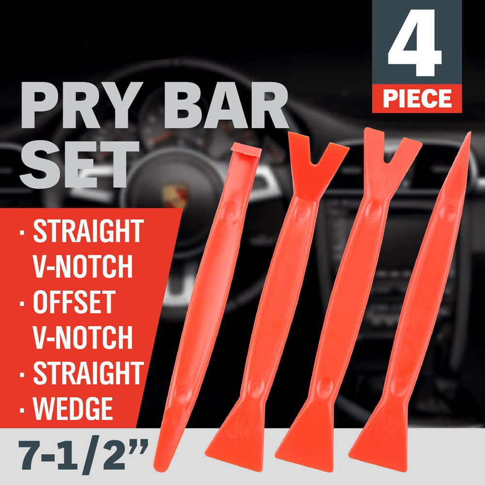 4Pcs Plastic Pry Bar Set New Car Radio Door Clip Open Installer Pry Tool Repairing CrowbarsInstaller Kit for Car AD1011(China (Mainland))