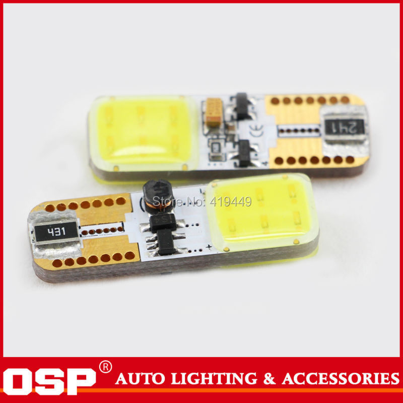 For 2014 New Cars 2pcs T10 W5W COB LED With Canbus Error Free Clearance License Plate Reading LED Light Bulb White Good Quality(China (Mainland))