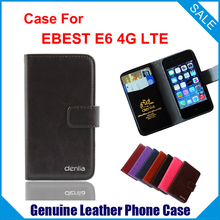 EBEST E6 4G LTE Case New Genuine Filp Leather Cover cellphone case tracking number - lin-go's store