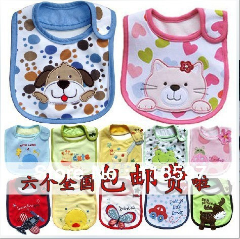 big brand product from new shop, three layer children bib Waterproof Bib Baby cartoon cute lovely Bibs baby slobber cotton Burp