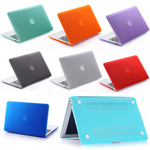 "Candy Color Frosted Surface Matte hard Cover Shell Rubberized Hard Case For Macbook Air Pro Retina 11"" 13"" 15"" 11.6"" 13.3"" 15.4""(China (Mainland))"