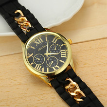 8 Colors Hot Selling Silicone Geneva Watches Fashion Chain Watch Women Dress Watches Ladies Wristwatches BW-SB-1173