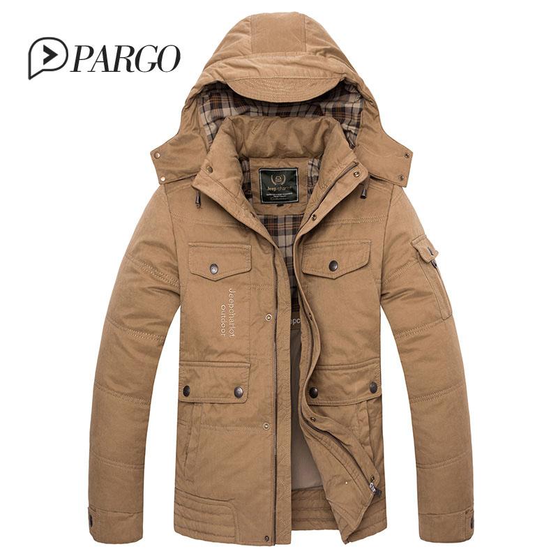 2016 new arrival men's jacket coat army green pocket big yards long section cotton coat thick warm winter jacket men(China (Mainland))