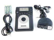 DEGEN DE15 FM Stereo MW SW FML LCD Radio World Band Receiver Alarm Quarz Clock A0902A
