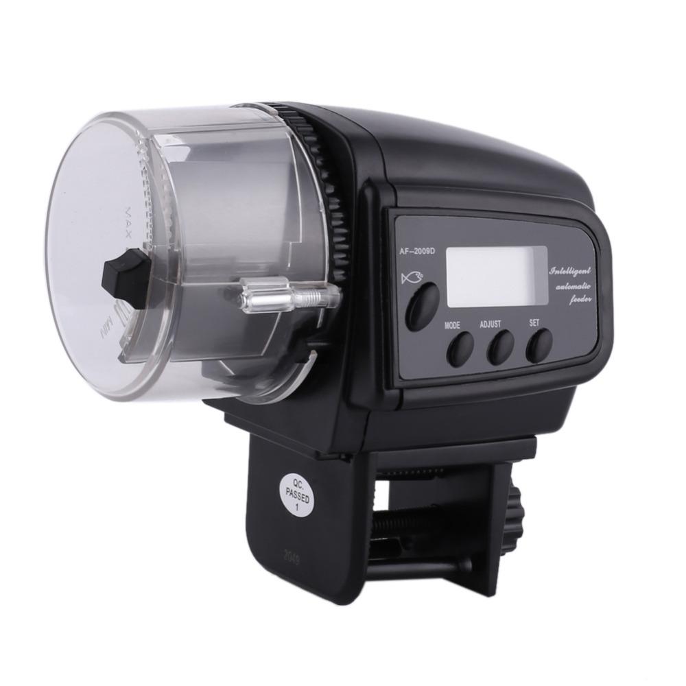 Digital lcd automatic aquarium tank auto fish feeder timer for Fish tank auto feeder